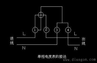 家用电表接线图_家用电能表详解图