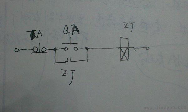 中间继电器自锁图解